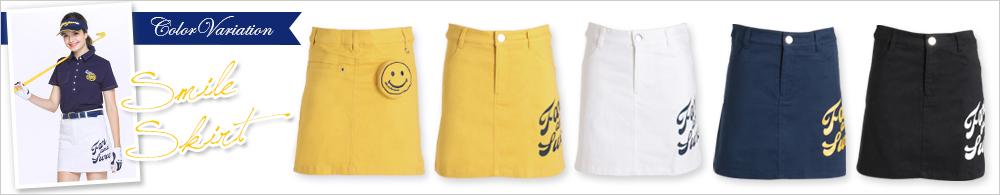 ピース刺繍立体ポケット付きプリントスカート