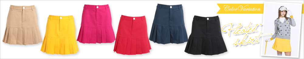 裾プリーツスーパーストレッチスカート
