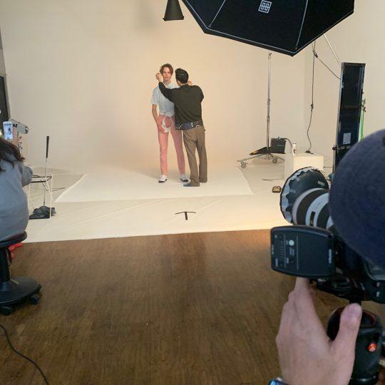 【メンズゴルフェア撮影風景】都内スタジオでメンズの新作ゴルフウェアの撮影をしました!